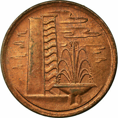 [#696650] Coin, Singapore, Cent, 1977, EF(40-45), Copper Clad Steel, KM:1a