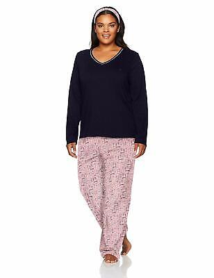 Nautica Womens Plus Size Graphic Knit Jersey Lounge Top