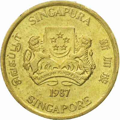 [#528543] Coin, Singapore, 5 Cents, 1987, British Royal Mint, EF(40-45)