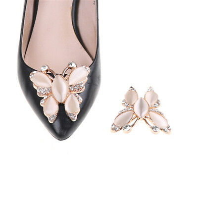 1PC Crystal Rhinestones Opal Shoe Clips Women Bridal Prom Shoes Buckle De-PN