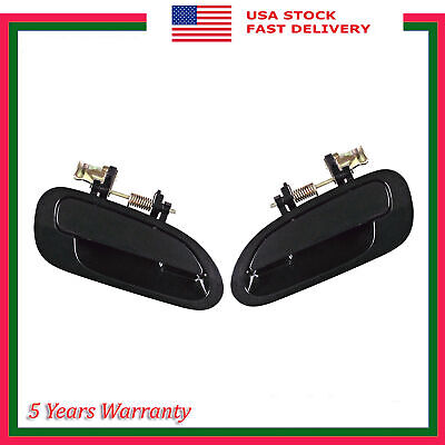 Rear LH RH Pair Set Outside Door Handle For Honda Accord Primed Black 1998-2002