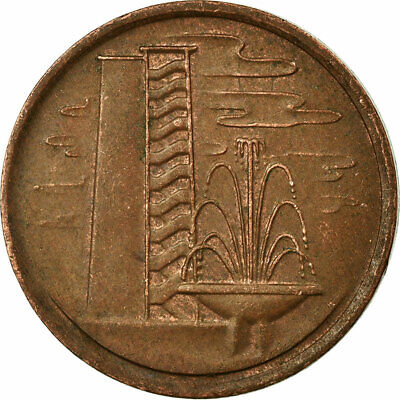 [#695915] Coin, Singapore, Cent, 1979, EF(40-45), Copper Clad Steel, KM:1a
