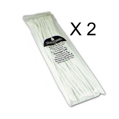 2 x Sarome Churchwarden pipe cleaners 50 each pack = 100 pipe cleaners 12 Inches