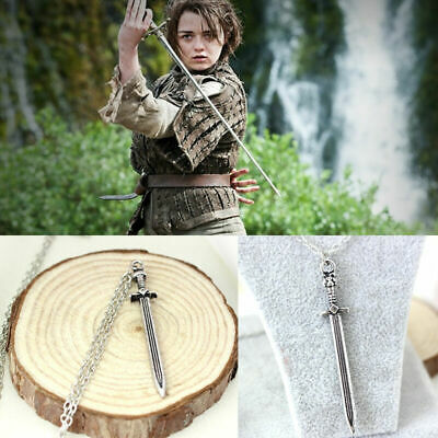 Game of thrones inspired Arya stark Needle Sword Necklace