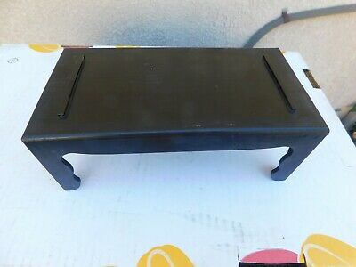 """Old Chinese 4 legs Rectangle wood display stand, 10X5X4"""""""