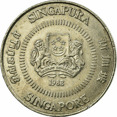 [#696196] Coin, Singapore, 50 Cents, 1988, British Royal Mint, EF(40-45)