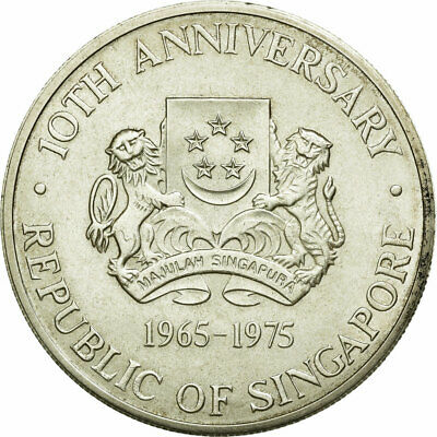 [#681382] Coin, Singapore, 10 Dollars, 1975, Singapore Mint, EF(40-45), Silver