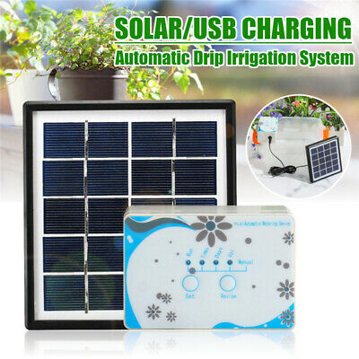 Solar DIY Micro Automatic Drip Irrigation Kit Self Watering USB Charged