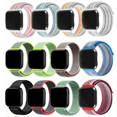 22MM Replacement Woven Nylon Sport Loop Watch Straps WristBand  For Fitbit Versa