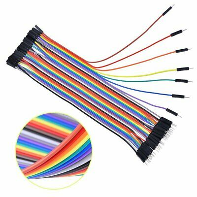Nuevo 40 Cables 20cm Macho Hembra jumper dupont 2.54 arduino breadboard cable