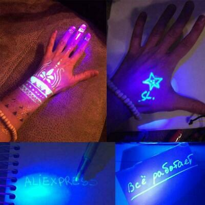 Magic 2 in 1 Invisible Ink Pen Pen With UV Light Magic Drawing Pen Marker E2J2