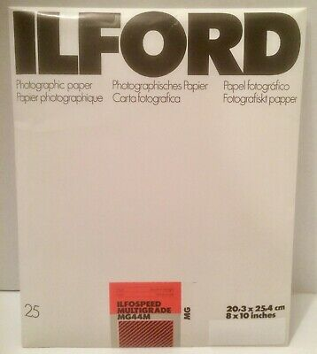 Ilford Photo Paper MG44M Multigrade Ilfospeed 8x10 25ct Pearl new old stock
