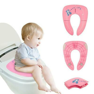 Baby Travel Folding Potty Seat Toddler Portable Toilet Training Pot Chair Pad UK