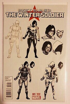 Bucky Barnes: The Winter Soldier #1 1:25 Variant Cover! Nm Captain America Hulk!