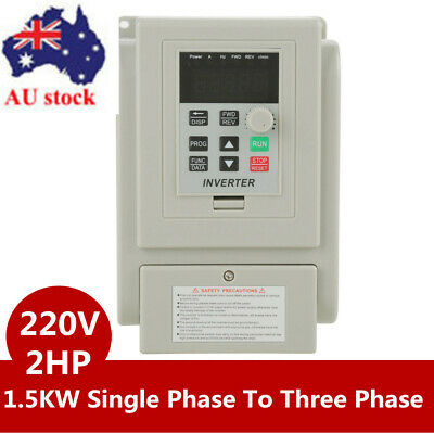 1.5KW 220V 2HP Single Phase To 3/Three Phase Output Frequency Converter VFD VSD