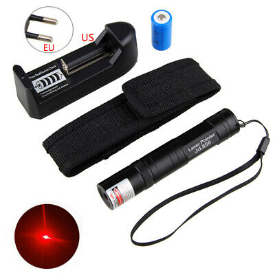 650nm Red Laser Pointer Light Fixed focus Lazer Beam <1mw 16340 Charger Holster