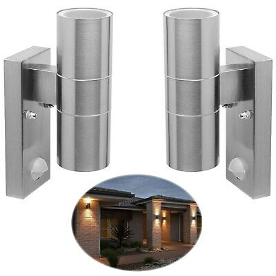 BYRON Dual Up / Down Outdoor Security Outside Wall Door House Garden Twin Lights