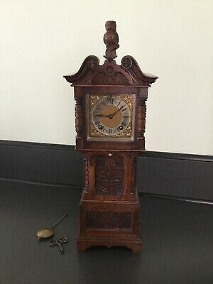 Lenzkirch Superb Mantel Clock C1894 Carved Oak Case 8 Day Strikes Hour/Half Fwo