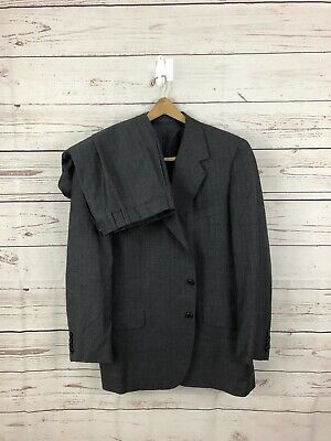 OXXFORD CLOTHES Mens 2 Piece Wool Gray Suit USA Size 44R Pants 36x28 Blazer A++