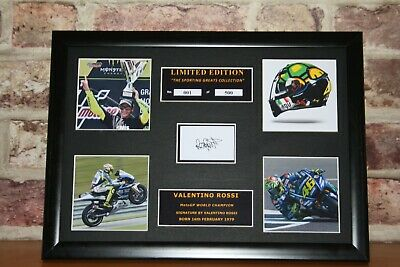 Valentino Rossi Signed Ltd Edition Framed Picture Memorabilia
