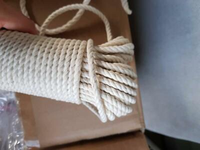 6mm Macrame Rope 100% Natural Cotton 30 Meters -3 strand