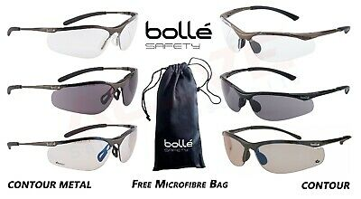 Bolle Safety Glasses Spectacles CONTOUR / CONTOUR METAL Eye protection Free Bag