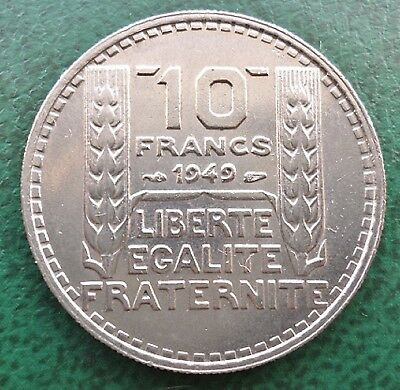 1949 France 10 Franc coin Small Head