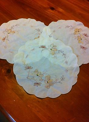 3 x Doilies ..... EXCELLENT USED CONDITION