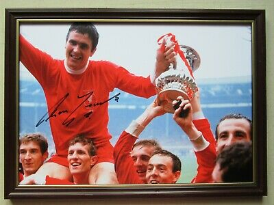 Liverpool 1965 FA cup winners signed by Ron Yeats,A4 , framed, coa.