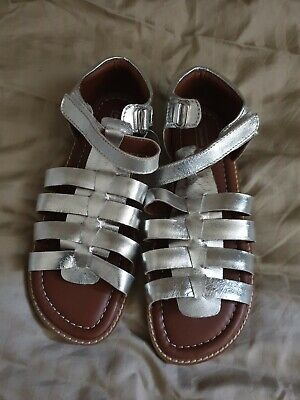 Girls John Lewis Silver Strappy Sandals Size 35. BNWOT