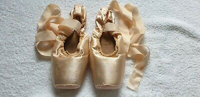"FREED Pointe Shoes Classic Pro 6.5 D XXX - Darned and Ribbons Attached ""OF"""