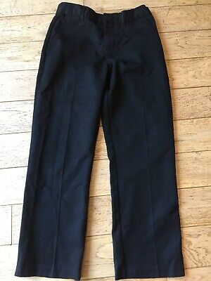 Boys Black School Trousers Age 7-8 122-128cms By George In Polyester