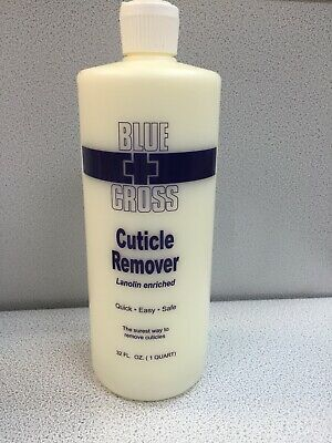 12 Blue Cross Cuticle Remover Manicure Pedicure Nails  32oz/ 946ml ( Box Of 12)