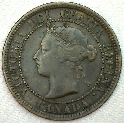 1882 H Canada Large Cent 1c Copper Canadian One Cent Coin YG You Grade K66