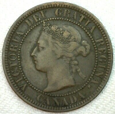 1882 H Canada Large Cent 1c Copper Canadian One Cent Coin YG You Grade K62
