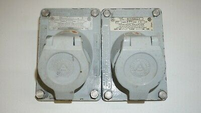 2 x Appleton ECS32023 Explosion Proof Ground Fault Receptacle