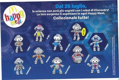 McDonald's Happy Meal DISCOVERY ROBOT - Pezzi a Scelta 2019