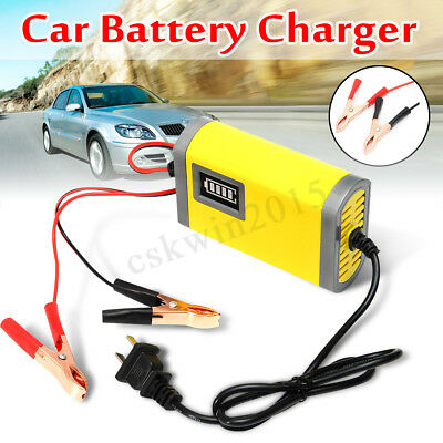 Smart 12V Automatic 2A Battery Charger Maintainer Trickle for Car Motorcycle