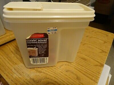Rubbermaid 1 Quart #4 Food Storage Dry Goods Container NOS WITH LABELS!