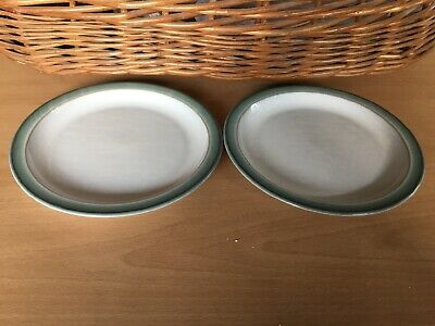 Denby Regency Green Tea Plates X 2. Approx 6 Inches