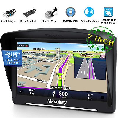 Sat Nav, Sat Navs for Cars, 7 inch High-brightness Capacitive Touch Screen 8GB