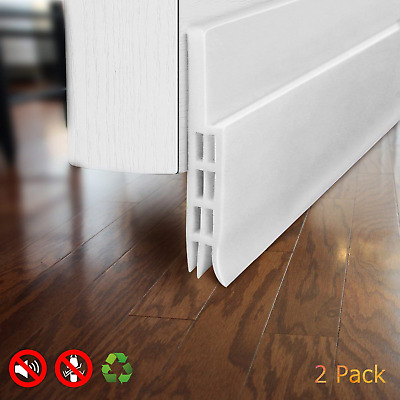"Under Door Draft Stopper Strong Adhesive Door Blocker for Noise and Bugs 2"" W x"