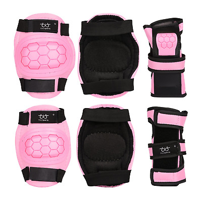 KidsKnee Pads,Protection Gear Set 6 in 1 Kit with Knee Elbow Wrist Pads Wrist S