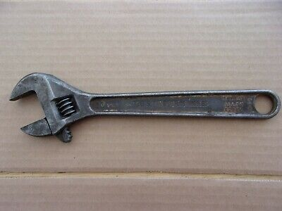 "Vintage 1951 Proto Los Angeles 710-S 10"" Adjustable Wrench R-3-1"