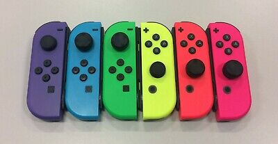 Official Nintendo Switch JoyCon  Joy-Con L & R Blue Red Pink Green Neon Open Box