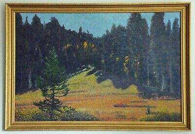 Rare 1952 Ferdinand Burgdorff Large Oil Painting Of Yosemite ~ Personalized