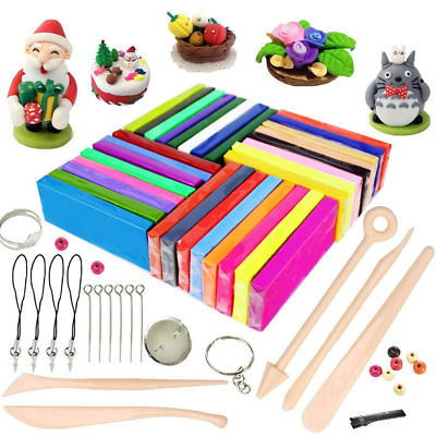 Polymer Clay, 32 Colours Oven Bake Polymer Clay, iFergoo DIY Modelling Clay Kit