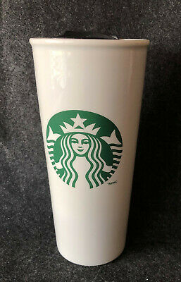 Starbucks Ceramic Travel Cup Tumbler 16 oz 2014 16oz Siren Mermaid Double Wall