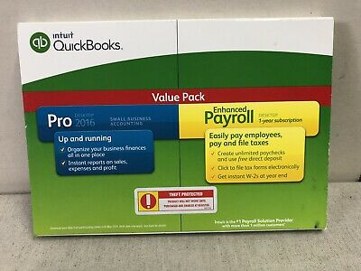Intuit QuickBooks Pro 2016 + Payroll Value Pack Small Business Accounting NIB