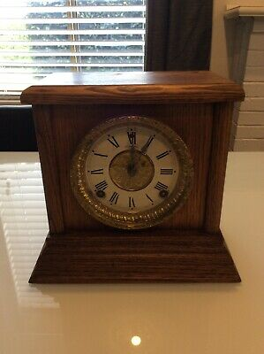 Antique Sessions Mantle Clock; Made In USA; Collectable; Serviced And Working